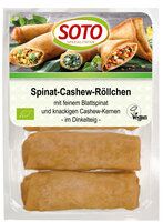 Spinat Tofu-Röllchen