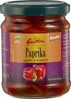 Paprika, gegrillt, in Kräuteröl
