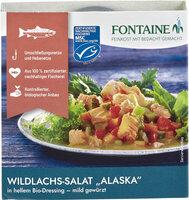 Wildlachs-Salat Alaska in hellem Bio-Dressing - mild gewürzt