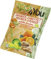 Bio-Bonbon-Ingwer-Limette & Ingwer-Orange, gefüllt