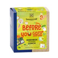 Before you go go! Ideenbox für deinen Lunch bio Packung