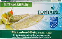 Makrelen-Filets ohne Haut