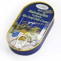 Makrelenfilets in Bio Senf-Dill-Creme