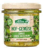 Hof-Gemüse Ennos Erbse Basilikum
