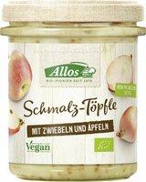 Schmalz-Töpfle mit Zwiebeln und Äpfeln