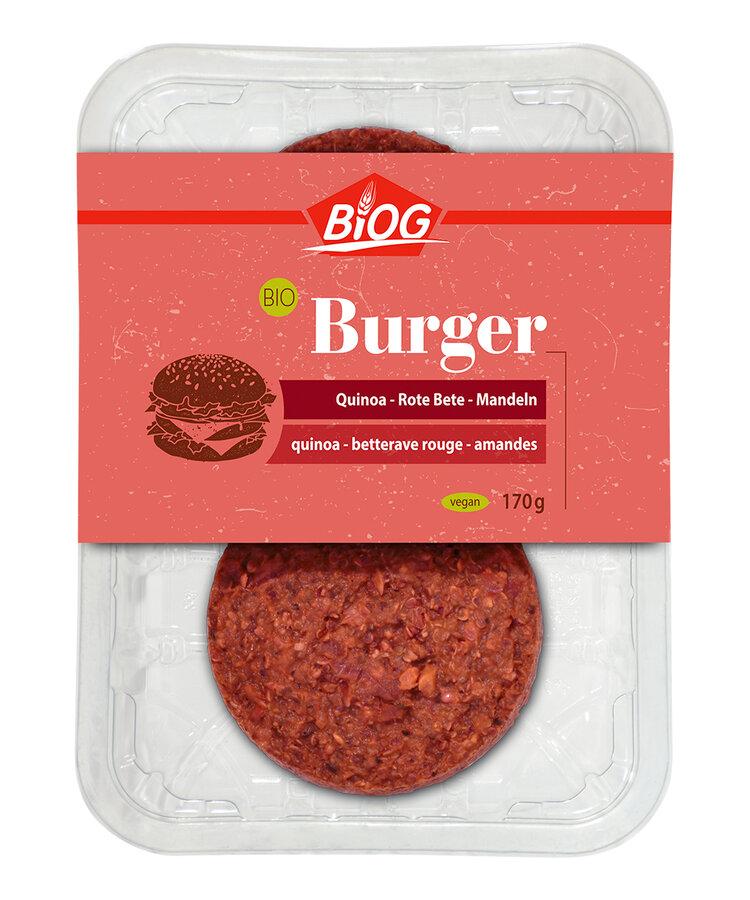 Burger Quinoa-Rote Bete-Mandeln