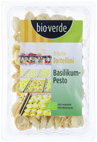 Frische Tortellini mit Basilikum-Pesto