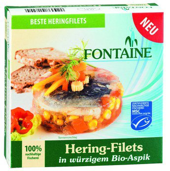 Hering-Filets in würzigem Bio-Aspik