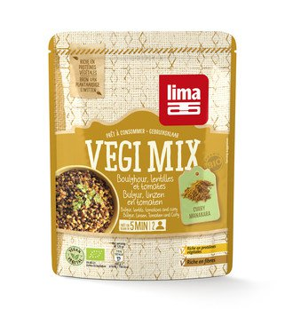 Vegi Mix Curry, Bulgur, Linsen