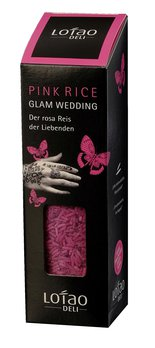 Glam Wedding Pink Rosa Reis, bio