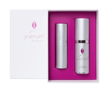 yverum Augen- und Lippenpflege Set, 1x eye and lip serum, 1x lip care cover 4,8g